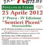 Sentieri Piceni 2012, prima uscita a Ponzano!